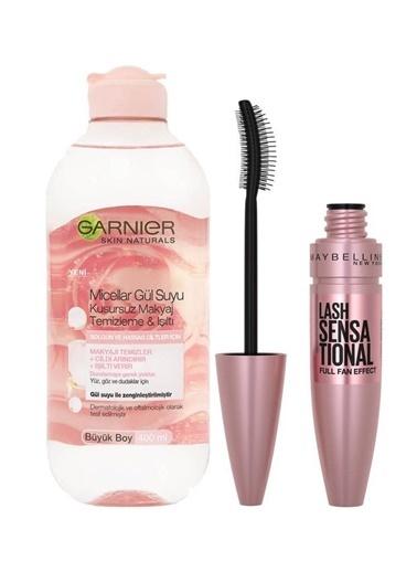 Garnier Garnier Makyaj Temizleme Işıltı Micellar Gül Suyu + Maybelline Lash Sensational Intense Black Mascara Renksiz
